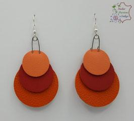 Orange, Rouge et Saumon                                                                                            Réf BOBUL