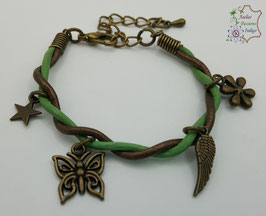 Taille enfant Vert et Bronze                                                        Réf BBALAENFBRON