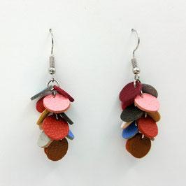 Boucles d'oreilles CONFETTIS Multicolore couleurs tons Pastel