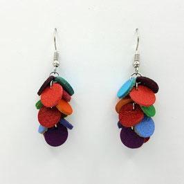 Boucles d'oreilles CONFETTIS Multicolore couleurs vives