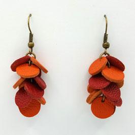 Boucles d'oreilles CONFETTIS Orange et Rouge