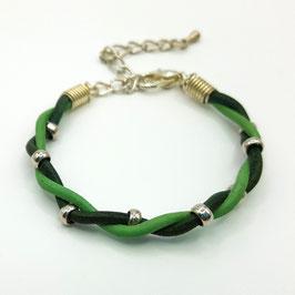 Vert et Vert Clair  Bracelet PERLINETTE Enfant