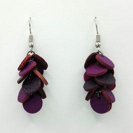 Boucles d'oreilles CONFETTIS Violet et Prune
