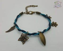 Bleu et Turquoise                                                        Réf BBALAADBR