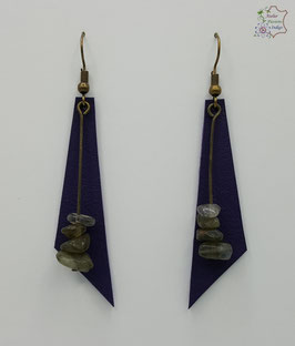 Violet et Labradorite                                                                                    Réf BOFUNA