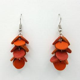 Boucles d'oreilles CONFETTIS Orange et Brique