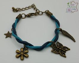 Taille enfant Bleu et Turquoise                                                         Réf BBALAENFBRON