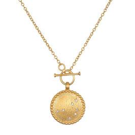 SATYA Halskette Gold - weisser Topaz - Pleiades