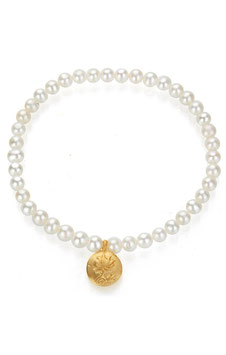 SATYA Stretcharmband Perle - Lotus