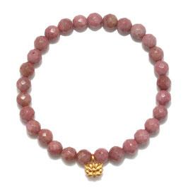 SATYA Stretcharmband Rhodonit - Lotus