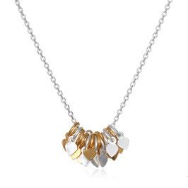 SATYA Halskette Blätter - Gold - Silber