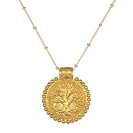 SATYA Halskette Gold - Baum des Lebens