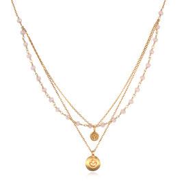 SATYA Halskette Chalcedon - Lotus