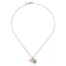 SATYA Halskette Silber - Rosenquarz - Lotus
