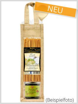 Geschenktasche Bärlauch-Tomate Pesto & Gourmetpasta