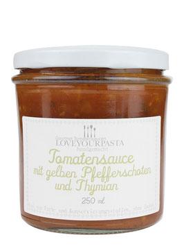 ZZ-OFF! Tomatensauce mit gelben Pfefferschoten und Thymian (250ml)