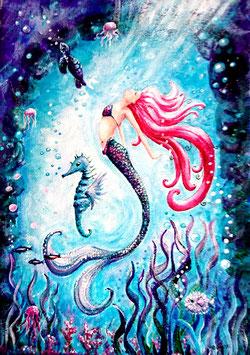 Marina Original Acrylic on Canvas.