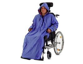 Regenumhang Regencape mit Kapuze für Rollstuhl von Bischoff & Bischoff Gr. S | L