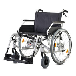 Rollstuhl Bischoff & Bischoff S-Eco XL Trommelbremsem bis 170 kg Sitzbreiten 52, 55 und 58 cm Faltbar