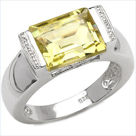 Damen Ring Ginette, Lemonquarz