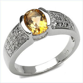 Damen Ring Salomé, Citrin