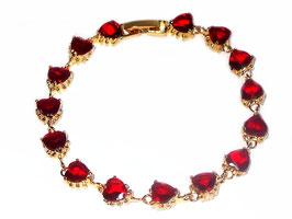 Armband Nevis, rote Zirkonia