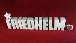 Beton, Steinguss Buchstaben 3D Deko Namen FRIEDHELM als Geschenk verpackt!