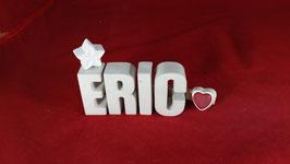 Beton, Steinguss Buchstaben 3D Deko Namen ERIC als Geschenk verpackt!
