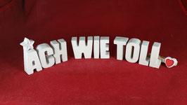 Beton, Steinguss Buchstaben 3D Deko Stern Namen ACH WIE TOLL als Geschenk verpackt!