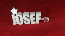 Beton, Steinguss Buchstaben 3D Deko Namen JOSEF als Geschenk verpackt!