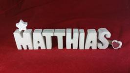 Beton, Steinguss Buchstaben 3D Deko Namen MATTHIAS als Geschenk verpackt!