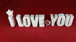 Beton, Steinguss Buchstaben 3D Deko Stern Namen I LOVE YOU als Geschenk verpackt!