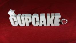 Beton, Steinguss Buchstaben 3D Deko Stern Namen CUPCAKE als Geschenk verpackt!