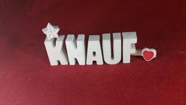 Beton, Steinguss Buchstaben 3D Deko Stern Schriftzug KNAUF  als Geschenk verpackt!