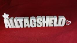 Beton, Steinguss Buchstaben 3D Deko Stern Namen ALLTAGSHELD als Geschenk verpackt!