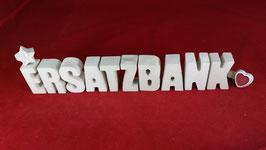 Beton, Steinguss Buchstaben 3D Deko Stern Namen ERSATZBANK als Geschenk verpackt!