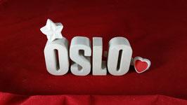 Beton, Steinguss Buchstaben 3D Deko Stern Namen OSLO als Geschenk verpackt!
