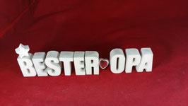 Beton, Steinguss Buchstaben 3D Deko Stern Namen BESTER OPA als Geschenk verpackt!