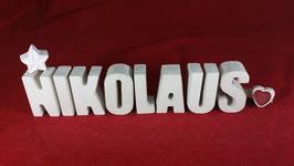 Beton, Steinguss Buchstaben 3D Deko Namen NIKOLAUS als Geschenk verpackt!