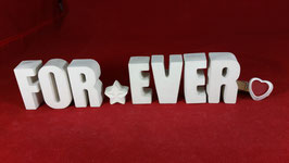 Beton, Steinguss Buchstaben 3D Deko Stern Namen FOR EVER als Geschenk verpackt!