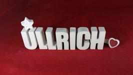 Beton, Steinguss Buchstaben 3D Deko Namen ULLRICH als Geschenk verpackt!