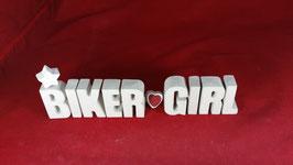 Beton, Steinguss Buchstaben 3D Deko Stern Namen BIKER GIRL als Geschenk verpackt!