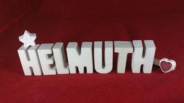 Beton, Steinguss Buchstaben 3D Deko Namen HELMUTH als Geschenk verpackt!