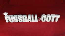 Beton, Steinguss Buchstaben 3D Deko Stern Namen FUSSBALL GOTT als Geschenk verpackt!