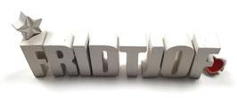 Beton, Steinguss Buchstaben 3D Deko Namen FRIDTJOF als Geschenk verpackt!