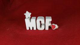 Beton, Steinguss Buchstaben 3D Deko Stern Schriftzug M C F  als Geschenk verpackt!