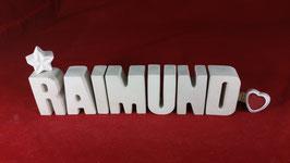 Beton, Steinguss Buchstaben 3D Deko Namen RAIMUND als Geschenk verpackt!