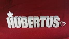 Beton, Steinguss Buchstaben 3D Deko Namen HUBERTUS als Geschenk verpackt!