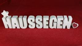 Beton, Steinguss Buchstaben 3D Deko Stern Namen HAUSSEGEN als Geschenk verpackt!
