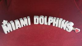Beton, Steinguss Buchstaben 3D Deko Stern Namen MIAMI DOLPHINS als Geschenk verpackt!
